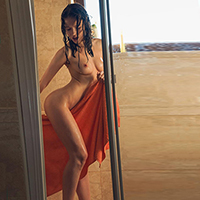 Beauty Eleni at agency Escort NRW for erotic adventures with striptease